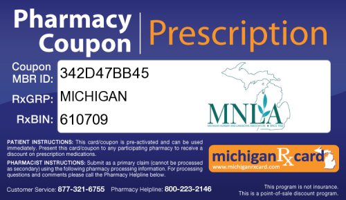 Michigan RX Card
